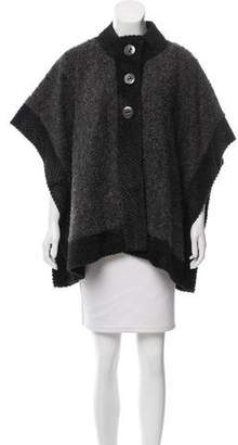 Adrienne Landau Faux Fur Colorblock Cape