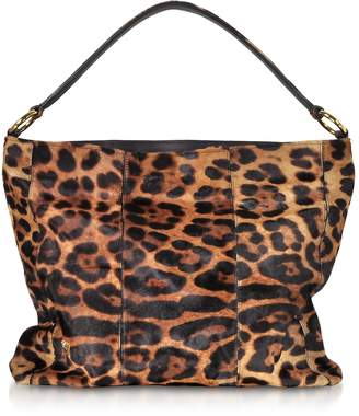 Ghibli Leopard Printed Haircalf Leather Sholder Bag