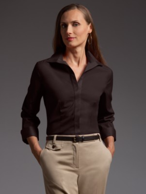 Talbots Wrinkle-resistant stretch blouse