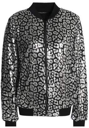 MICHAEL Michael Kors Sequined Open-Knit Bomber Jacket