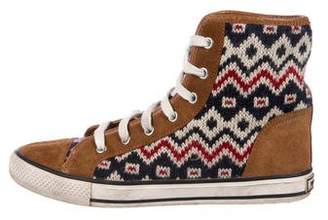Tory Burch Suede High-Top Sneakers