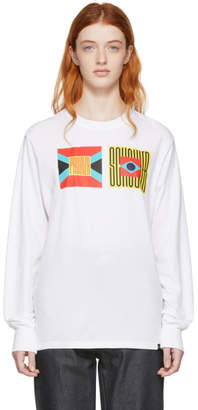 Proenza Schouler White PSWL Flag Long Sleeve T-Shirt