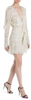 Magda Butrym Minsk Polka Dot Ruffle Mini Dress
