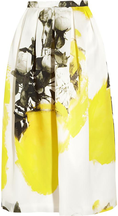 Christopher Kane Printed silk-organza skirt