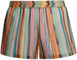 Missoni MARE Vertical striped knitted shorts