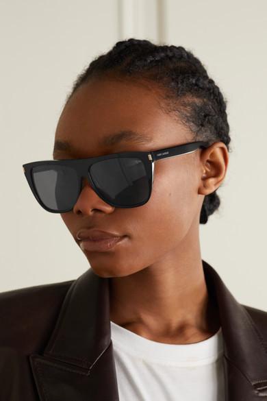Saint Laurent - D-frame Acetate Sunglasses - Black 4