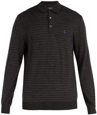 Polo Ralph Lauren Striped long-sleeved wool polo shirt
