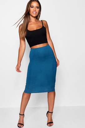 boohoo Petite April Basic Bodycon Midi Skirt