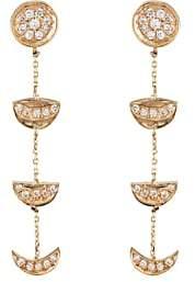 Bianca Pratt Women's Moon Phase Drop Earrings-Gold