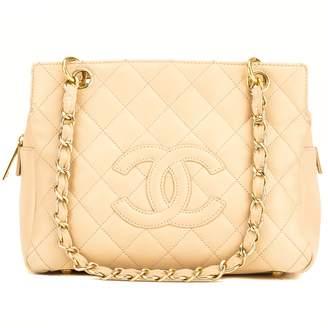 Chanel Caviar Beige PST Petite Tote Leather Handbag (7000265)