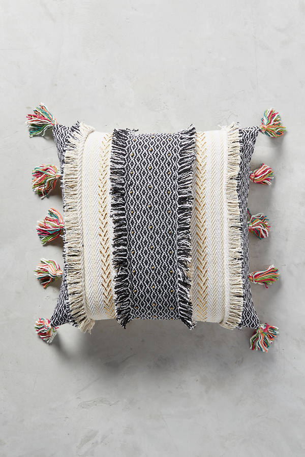 Anthropologie Anthropologie Tasseled Retrograde Floor Pillow