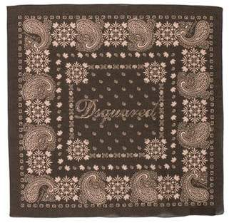DSQUARED2 Paisley Square Scarf