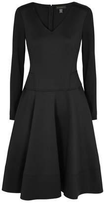 Donna Karan Black Flared Scuba Dress