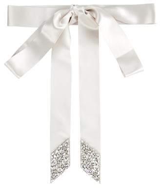Ossai Bridal Satin Embellished Belt w/ Tags