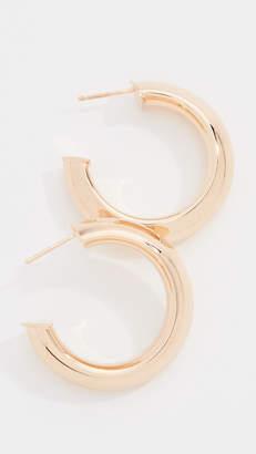 Bronzallure Thick Tube Mini Hoop Earrings