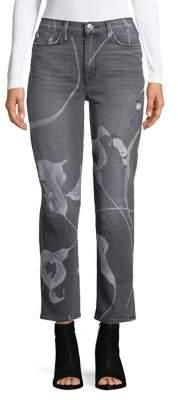 Hudson High-Rise Straight-Leg Cropped Jeans