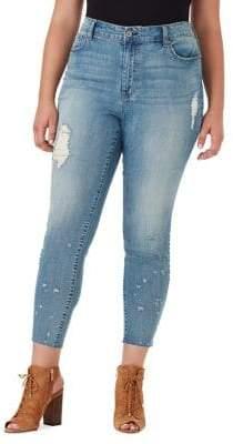 Jessica Simpson Plus Curvy High-Rise Skinny-Fit Jeans