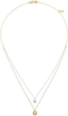 Gurhan Delicate Pave Two-Tone Two-Layer Diamond Necklace