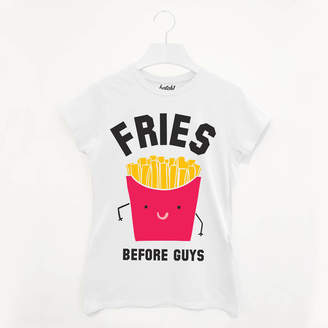 Batch1 Fries Before Guys Women's Slogan T Shirt