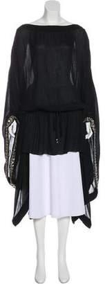 Elena Makri Embellished Crinkle Tunic