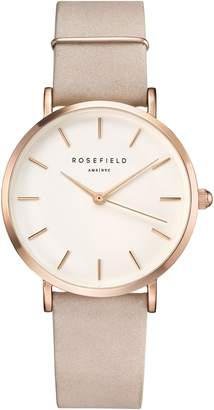 ROSEFIELD Holiday Leather Strap Watch & Bracelet Gift Set, 33mm