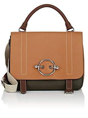 J.W.Anderson Women's Disc Leather & Suede Satchel - Camel