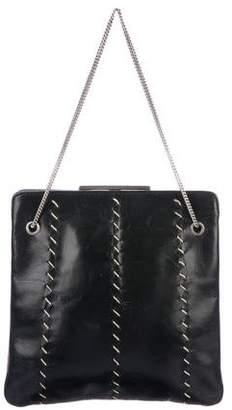 Emporio Armani Stitched Leather Handle Bag