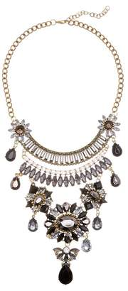 Eye Candy Los Angeles Crystal Detail Moon Necklace