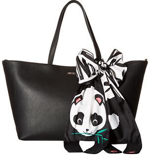 Love MoschinoLOVE Moschino Animal Scarf Tote (Panda)