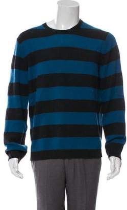Theory Cashmere-Blend Striped Crew Neck Sweater