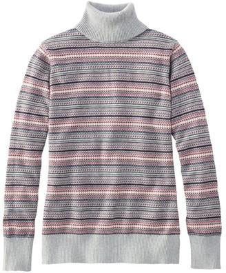 L.L. Bean L.L.Bean Women's Cotton/Cashmere Sweater, Fair Isle Turtleneck