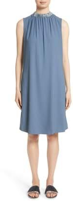 Fabiana Filippi Satin Trim Crepe Dress