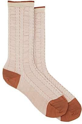 Antipast Women's Shearing Herringbone Wool-Blend Mid-Calf Socks