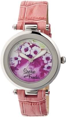 Freda Silver-tone Stainless Steel Case Custom Painted Porcelain Dial Ladies Watch