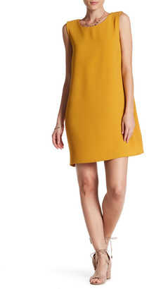 Bobeau Lattice Back Crepe Shift Dress $62 thestylecure.com