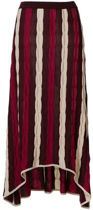 Marni striped cable knit skirt
