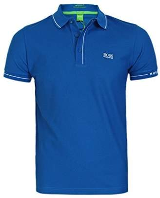 HUGO BOSS Polo Paule Short Sleeve Green for Men (L)