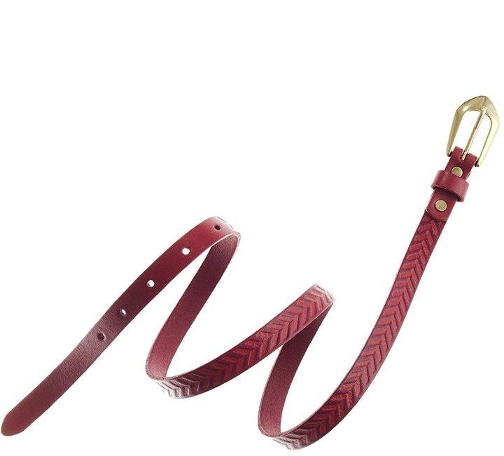 Arrowstamp skinny belt
