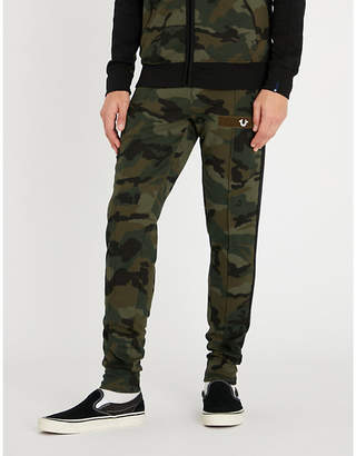 True Religion Camouflage tapered cotton-blend jogging bottoms