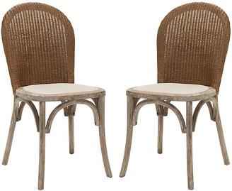 One Kings Lane Beige Beau Side Chairs - Set of 2