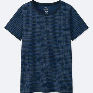 Uniqlo Women's Sprz Ny Dry-ex Printed Short-sleeve T-Shirt (francois Morellet)
