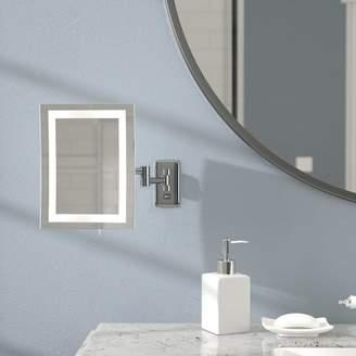 Wade Logan LED Lighted Wall Mount Rectangular Makeup Mirror