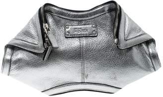 Alexander McQueen Manta Metallic Leather Clutch Bag