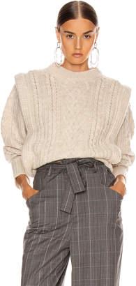 Etoile Isabel Marant Tayle Sweater in Ecru   FWRD