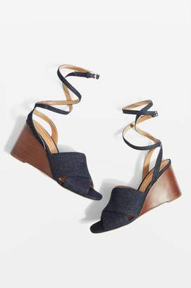 Topshop Whirl Cross Strap Wedges
