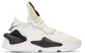 Y-3 White and Black Kaiwa Sneakers