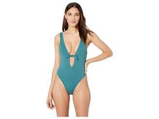 4f984059aefca Bikini Lab THE Solids Tie Front One-Piece