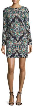 Nicole Miller Resplendent Crystals Shift Dress, Multi $259 thestylecure.com
