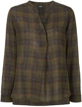 Aspesi check loose blouse