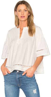 DEREK LAM 10 CROSBY Pintuck Top in White $395 thestylecure.com